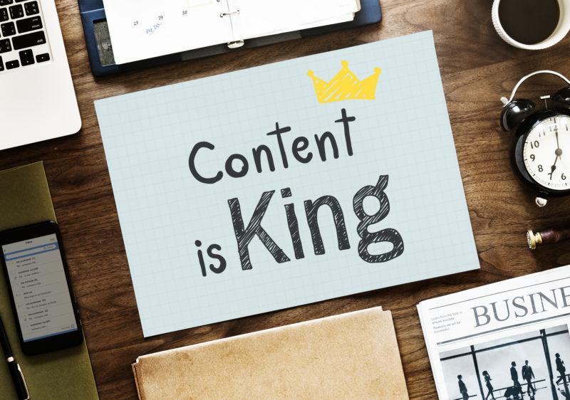En référencement, le contenu est roi.