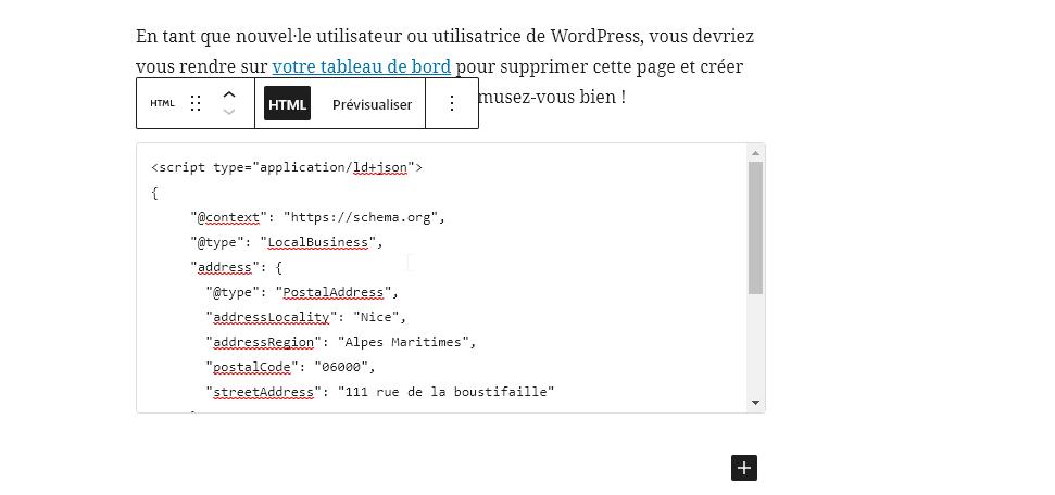 Voici comment ajouter des données structurées schema.org dans WordPress via l'éditeur Gutenberg.
