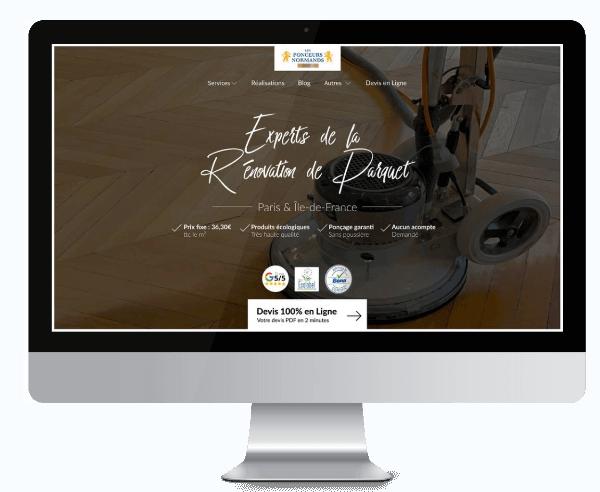 exemple de réalisation d'un site web artisan