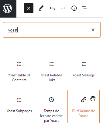 installation du breadcrumb yoast seo étape 2
